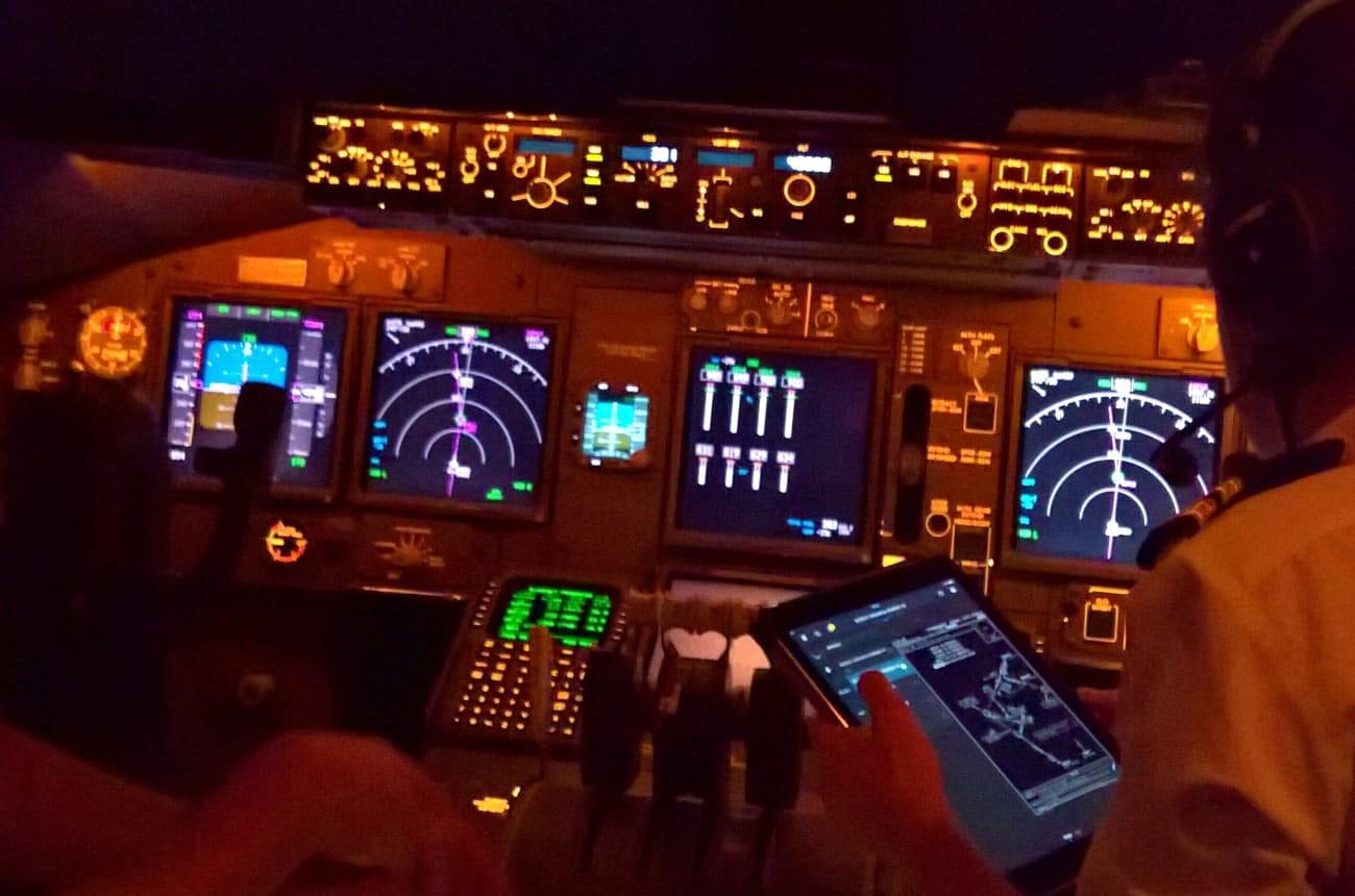 Support numérique navigation aérienne FVS Onboard solutions